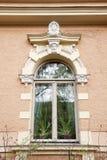 Dekoration auf einem historischen Gebäude Stockfotografie