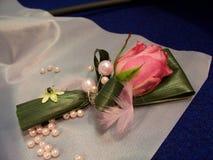 Dekoration auf Hochzeitsschreibtischen Lizenzfreies Stockfoto
