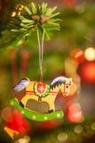 Dekoration auf Weihnachtsbaum Stockfotografie