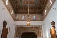 Dekoration in Bahia Palace, Marokko stockfoto