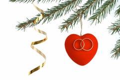 Dekoration del árbol de navidad Imágenes de archivo libres de regalías