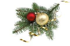Dekoration del árbol de navidad imagenes de archivo