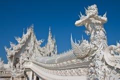 Dekoration der berühmten weißen Kirche, Thailand Stockbilder