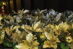 Dekoration der frohen Weihnachten und des Sylvesterabends Stockbilder