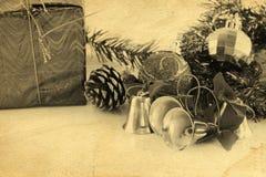 Dekoration der goldenen Glocken Weihnachts stockbilder