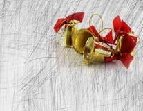 Dekoration der goldenen Glocken Weihnachts stockfoto