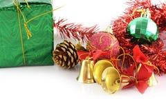 Dekoration der goldenen Glocken Weihnachts lizenzfreie stockfotografie