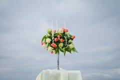 Dekoration der Hochzeitszeremonie Stockfotografie