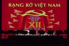 Dekoration der kommunistischen Partei in Vietnam Lizenzfreies Stockfoto