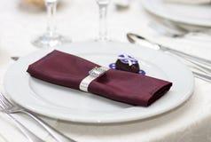 Dekoration der Tabelle in einer Gaststätte Stockfoto