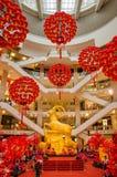 Dekoration des Chinesischen Neujahrsfests in Kiloliter-Pavillon Stockfotos