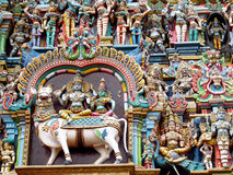 Dekoration des hinduistischen Tempels Lizenzfreies Stockfoto