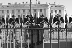 Dekoration des historischen russischen Gebäudes Lizenzfreie Stockfotos
