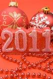 Dekoration des neuen Jahres Stockfotos