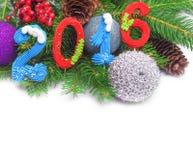 Dekoration des neuen Jahres 2016 Lizenzfreie Stockfotos