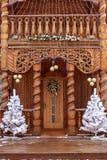 Dekoration des neuen Jahres im Freien Stockbild