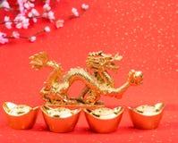 Dekoration des neuen Jahres mit Drachen Lizenzfreies Stockbild