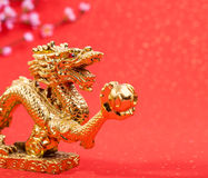 Dekoration des neuen Jahres mit Drachen Stockbilder