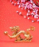 Dekoration des neuen Jahres mit Drachen Stockbild