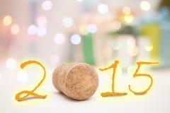 Dekoration des neuen Jahres, Nahaufnahme 2015 Lizenzfreies Stockbild