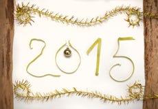 Dekoration des neuen Jahres, Nahaufnahme 2015 Stockbild