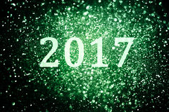 Dekoration des neuen Jahres, Nahaufnahme auf goldenen Hintergründen Lizenzfreies Stockfoto