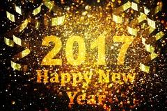 Dekoration des neuen Jahres, Nahaufnahme auf goldenen Hintergründen Stockbilder