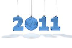 Dekoration des neuen Jahres von 2011 Zahlen Stockbild