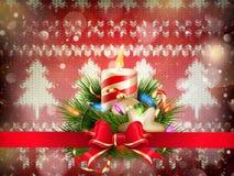 Dekoration des neuen Jahres Weihnachts ENV 10 Stockbild