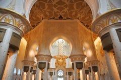 Dekoration des Scheichs Zayed Mosque. Abu Dhabi Stockbild