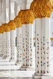 Dekoration des Scheichs Zayed Mosque. Abu Dhabi Stockfotografie