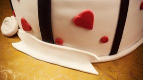 Dekoration eines Jahrestags-Kuchens Lizenzfreies Stockbild