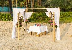 Dekoration für romantische Zeremonie Lizenzfreie Stockfotos