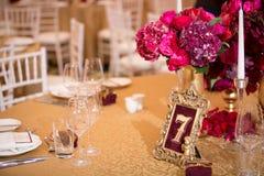 Dekoration am Hochzeitstag Stockbilder