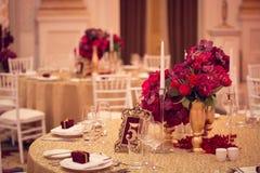 Dekoration am Hochzeitstag Stockfotografie
