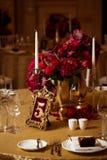 Dekoration am Hochzeitstag Stockfotos