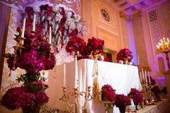 Dekoration am Hochzeitstag Stockfoto