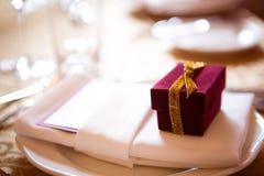 Dekoration am Hochzeitstag Stockbild