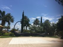 Dekoration im Freien, Architektur, blauer Himmel, grüne Natur Lizenzfreies Stockfoto