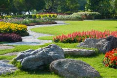 Dekoration im Park Lizenzfreies Stockfoto