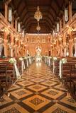 Dekoration innerhalb der Römisch-katholischen Kirche stockbild