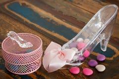 Dekoration mit Bonbons für den Geburtstag des Mädchens, Babyparty Lizenzfreie Stockbilder