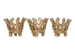 Dekoration mit drei Königkronen Weihnachts Lizenzfreie Stockfotos
