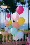 Dekoration mit Luftballonen Lizenzfreie Stockbilder