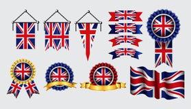 Dekoration oder Hintergrund der Flaggenkunst Vereinigten K?nigreichs vektor abbildung