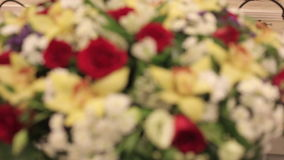 Dekoration von Hochzeitsblumen stock footage