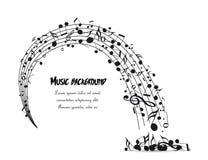 Dekoration von musikalischen Anmerkungen Stockfotografie