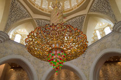 Dekoration von Sheikh Zayed Mosque. Abu Dhabi Lizenzfreie Stockfotos