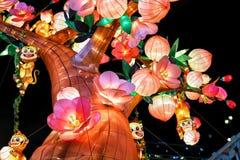 Dekoration während des Chinesischen Neujahrsfests in Chinatown in Singapur Lizenzfreie Stockfotos