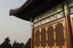 Dekoration weg von den eligious Gebäuden Peking China Tempels Himmelstempels Tiantan Daoist Stockfotos